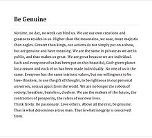 Be Genuine by AmeliaTheSailor