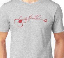 Marie Wilson Autograph Guitar (Red) Unisex T-Shirt