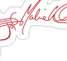 Marie Wilson Autograph Guitar (Red) Sticker