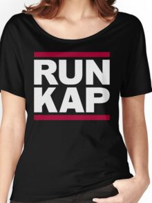 "San Francisco 49ers ""RUN KAP"" Design!  Women's Relaxed Fit T-Shirt"