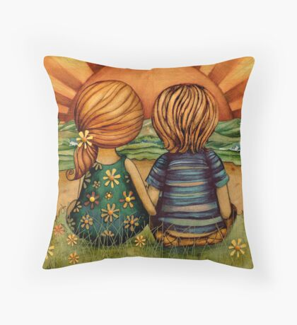Sweethearts Throw Pillow