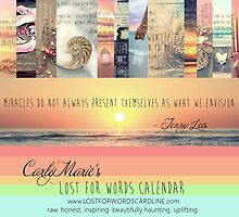 Lost For Words Calendar Cover 2014 by CarlyMarie