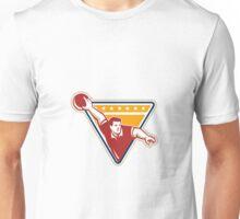 Bowler Pose Bowling Ball Pins Retro Unisex T-Shirt