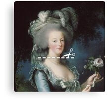 Cut Here - Marie Antoinette Canvas Print