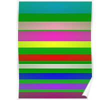 Stripes Green Background Poster