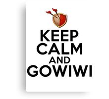 Keep Calm And GoWiWi Clash of Clans T Shirt Canvas Print