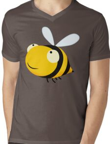 Happy Bee Mens V-Neck T-Shirt