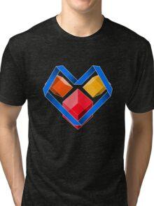 Love Cubes Blue Tri-blend T-Shirt