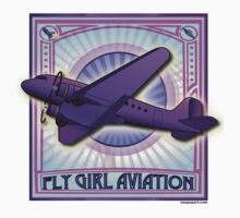 FLY GIRL AVIATION Retro AIRPLANE STICKER by neoPOPart