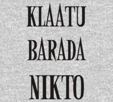 KLAATU BARADA NIKTO One Piece - Long Sleeve