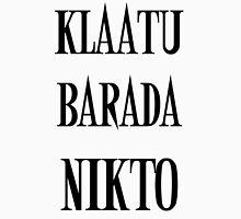 KLAATU BARADA NIKTO Womens Fitted T-Shirt