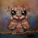 little rainbow flower owl by © Karin Taylor