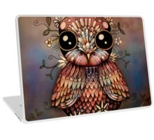 little rainbow flower owl Laptop Skin