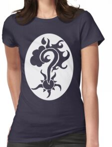 Question Mark White see through Womens Fitted T-Shirt