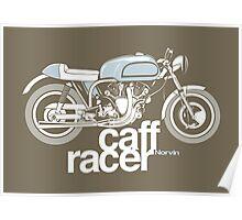 Norvin Caff Racer Poster