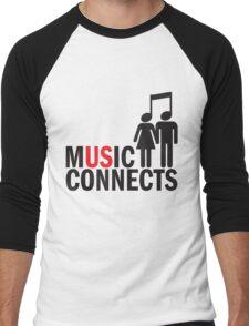 Music Connects Men's Baseball ¾ T-Shirt