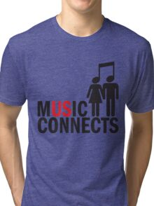 Music Connects Tri-blend T-Shirt