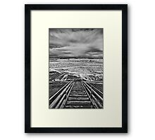 Step into the Storm Framed Print