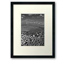 Rocks Sand & Sea Framed Print