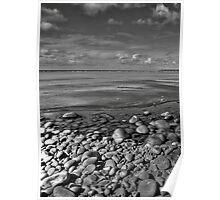 Rocks Sand & Sea Poster