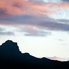 A crescent moon over the Trotternish Ridge, Skye by Richard Flint