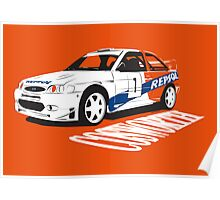 Ford Escort Cosworth WRC Poster