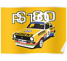 Ford Escort Mk2 Rally Car Poster