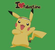 Pikachu loves Palestine T shirt Kids Clothes