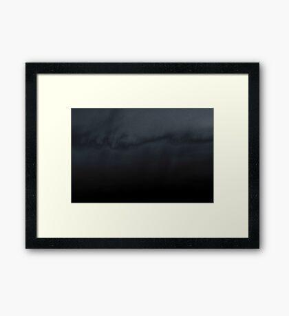 sunset experiment - 1 Framed Print