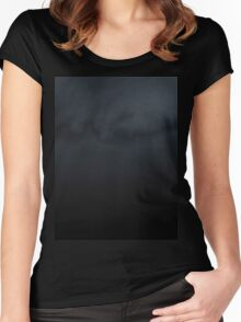 sunset experiment - 1 Women's Fitted Scoop T-Shirt