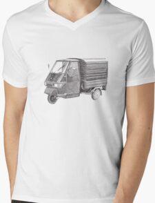 Piaggio Ape Mens V-Neck T-Shirt