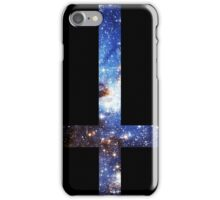 Blue Galaxy Inverted Cross iPhone Case/Skin