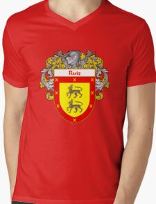 Ruiz Coat of Arms/Family Crest Mens V-Neck T-Shirt