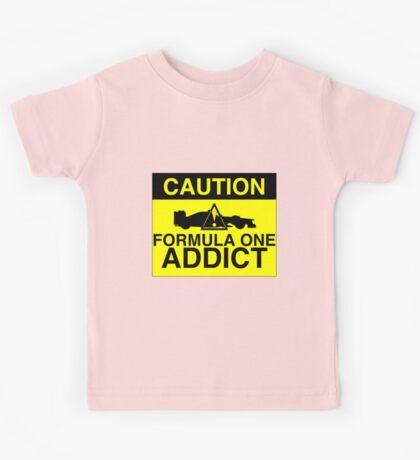 CAUTION! Formula One Addict 2 Kids Tee