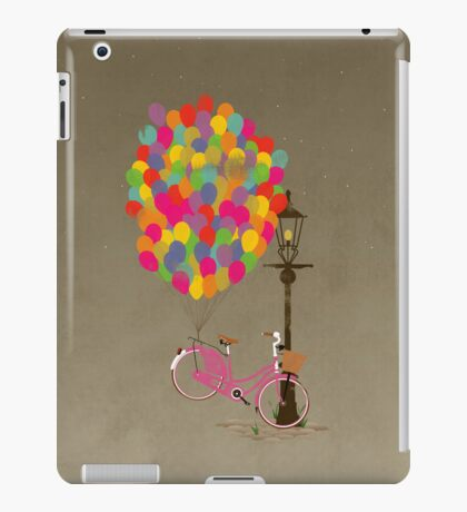 Love to Ride my Bike with Balloons even if it's not practical. iPad Case/Skin