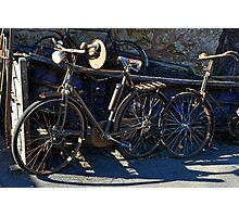 Vintage Bicycles Photographic Print