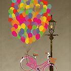 Love to Ride my Bike with Balloons even if it's not practical. by Andy Scullion