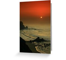 Castelejo Beach Sunset Greeting Card