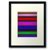 On the Earth Stripes Framed Print