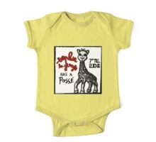 Sophie la Girafe Has A Posse Giraffe Retro One Piece - Short Sleeve