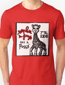 Sophie la Girafe Has A Posse Giraffe Retro Unisex T-Shirt