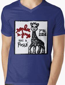 Sophie la Girafe Has A Posse Giraffe Retro Mens V-Neck T-Shirt