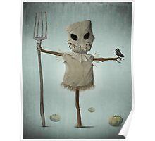 Halloween scarecrow Poster