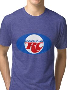 Rosicrucian RC Royal Crown Cola Logo Retro Vintage Tri-blend T-Shirt
