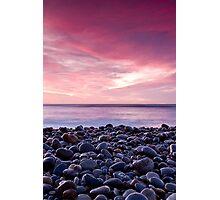 Pebbly Sunrise Photographic Print