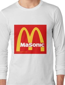 Masonic Freemason McDonald's Esoteric Symbol Long Sleeve T-Shirt