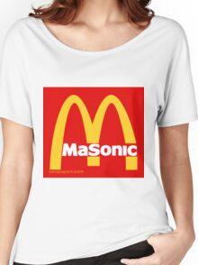 Masonic Freemason McDonald's Esoteric Symbol Women's Relaxed Fit T-Shirt