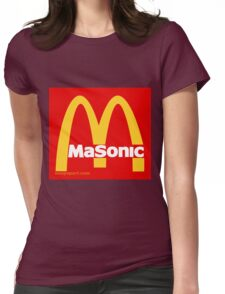 Masonic Freemason McDonald's Esoteric Symbol Womens Fitted T-Shirt