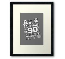 I Survived the 90's Framed Print