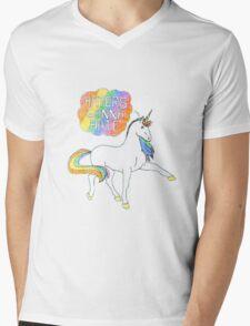 Haters gonna Hate Blue Mens V-Neck T-Shirt